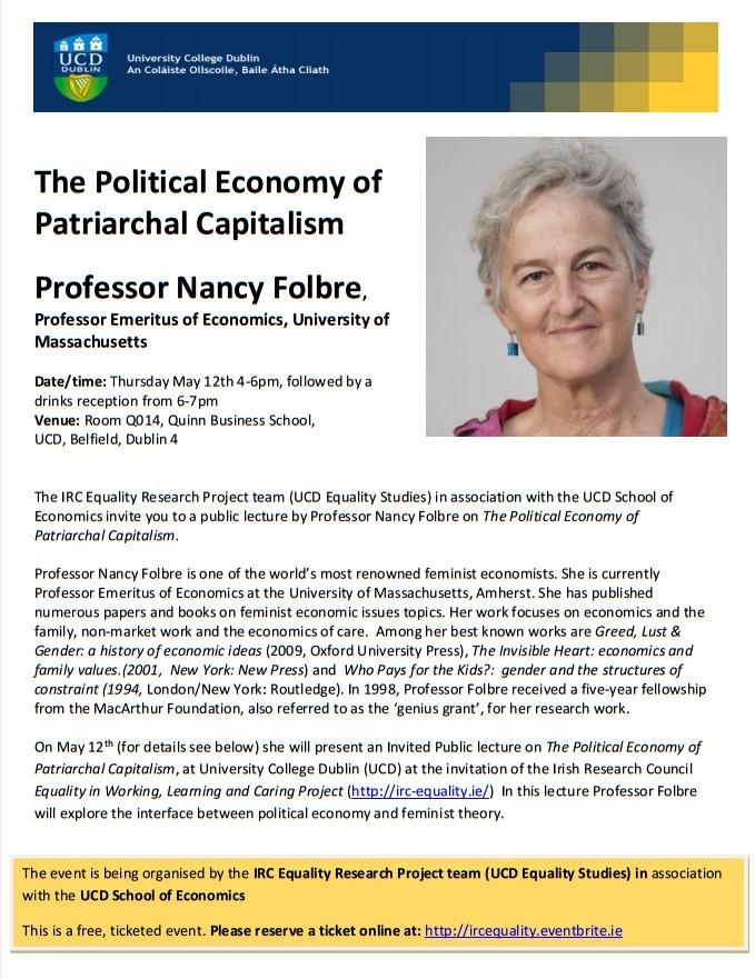 Nancy Folbre - seminar poster